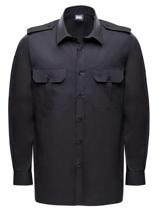 Captain Noniron Shirt Men Long Sleeve