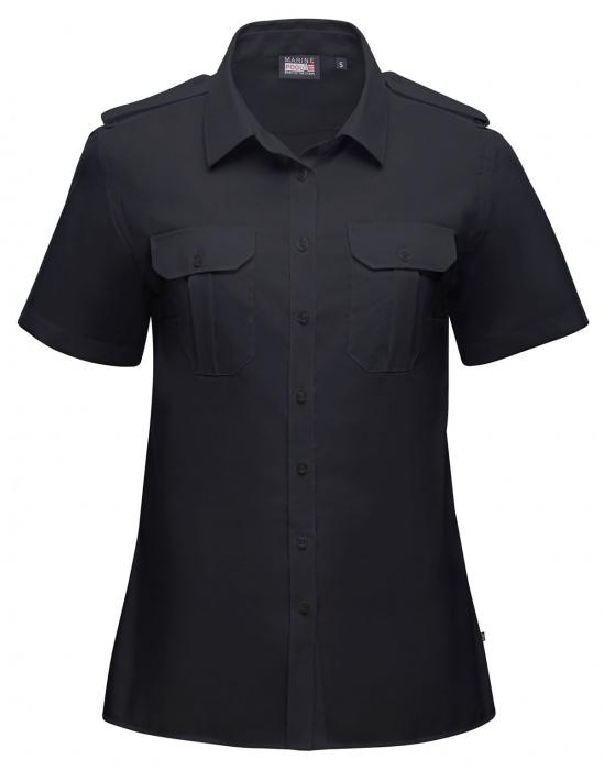 Captain Noniron Shirt Women Short Sleeve