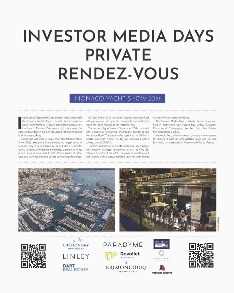 Investor Media Days 2019 @ MYS